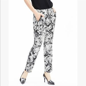Banana Republic Piped Printed Soft Ankle Pants 10